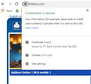Website dengan EV SSL